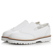 top quality white flat women simple shoes