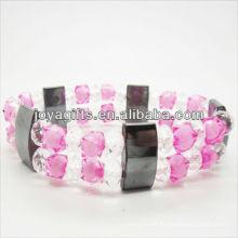 01B5006 / novos produtos para 2013 / hematita spacer pulseira de jóias / bracelete de hematita / pulseiras de saúde hematita magnética