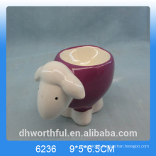 Lovely ceramic egg cup holder with sheep design