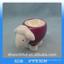 Lovely ovo cerâmica titular com design ovinos