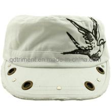 Rectificado lavado de ojal remache Decoración bordado Ocio Cap militares (CSCMCM9447)