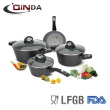 Forged aluminum home cooking stone cookware set