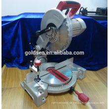 255mm 1800w Long Life Induktionsmotor Aluminium / Holz Schneiden Cut Off Gehrungssäge Maschine Portable Power Elektrische Säge Preise GW8019