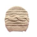 100% Kaschmir Großer Kabelhut Handgestrick