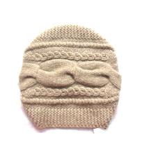 100% en cachemire Big Cable Hat Hand Knit