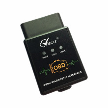Preto Elm327 v 2.1 adaptador OBD2 diagnóstica Interface Bluetooth