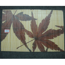 (BC-M1025) Handmade Natural Bamboo Rectangle Heat Insulation Placemat