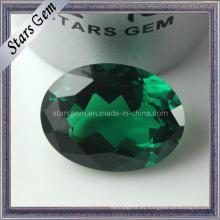AA esmeralda verde forma oval CZ perlas sueltas para joyería