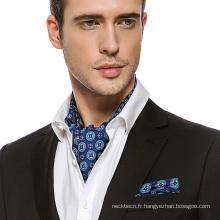 Hommes Mode Paisley Haute Qualité Soie Screen Cravat Cravate Cravate Ascot