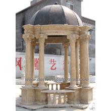 Antike Stein Marmor Garten Gazebo für Outdoor Garten Dekoration (GR047)
