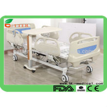 5 function electric hospital bed with central brake system