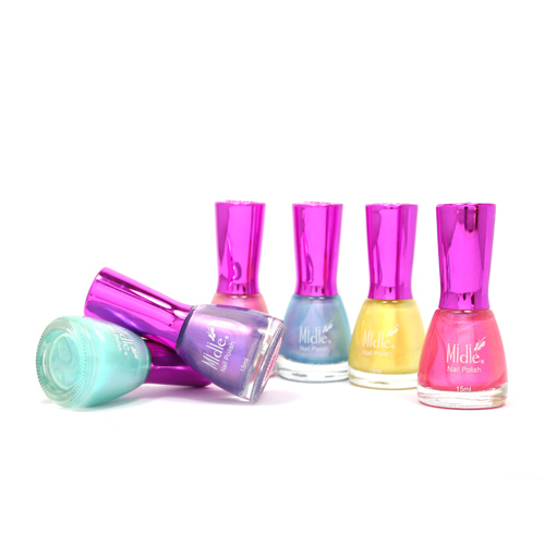 Rainbow Color Conch Shell Nail Polish Pearly Shining