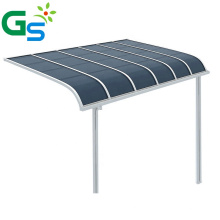 High quality balcony rain awnings canopy Aluminum patio awnings for window and door with 2mm polycarbonate solid sheet