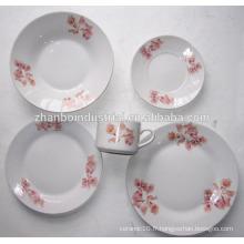 Ensemble de vaisselle en porcelaine fine en forme de rond de 30pcs