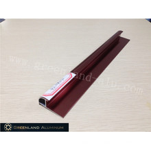 Aluminium Radius Tile Trim in Anodised Bright Rose Color