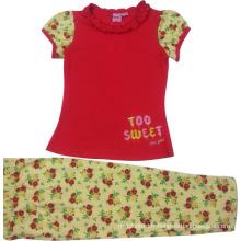 Summer Kids Baby Girl Suit dans les vêtements pour enfants