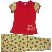 Лето дети девочка костюм Детская одежда