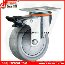 Medium Duty Gray TPR Rubber Casters