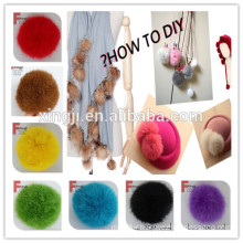 Top quality dyed and natural rabbit fur ball for garment