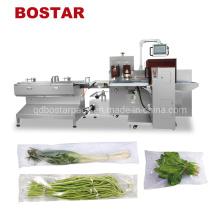 Máquina de embalagem e embalagem de legumes frescos