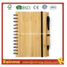 A5 Spiral Bamboo Notebook para la promoción