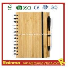 A5 Спиральный бамбуковый ноутбук для продвижения