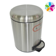 Round Stainless Steel Noiseless Close Foot Pedal Waste Bin (A5-SD)
