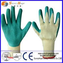 10 перчаток из латекса с хлопковым покрытием