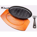 Sizzling Pan cast iron pre-seasoned with removeable handle