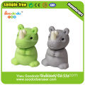 SOODODO 3D Collectible Grey Rhino Shaped Eraser