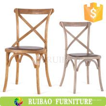 2016Modern Best Quality Vintage Holzstuhl mit Rush Seat