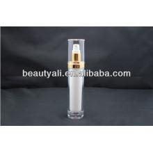 15ml 30ml 60ml 120ml Botella cosmética de acrílico redonda con la bomba