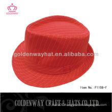 2013 girls red fedora hat