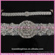 LB0001 Qualidade tecido melhor feito à mão Faixa de cinto de strass mulher de alta qualidade cintos de vestido de casamento embellished