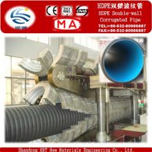 Fabricante de riego agrícola HDPE doble pared de tubo corrugado