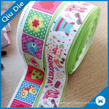 Custom Printed Grosgrain Ribbon for Christmas Gift Packing and Garment Accessories
