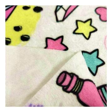 Tissu de couverture de bébé en molleton 100% polyester imprimé vison