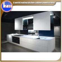 Muebles de cocina de fibra modular brillante con embalaje ensamblado