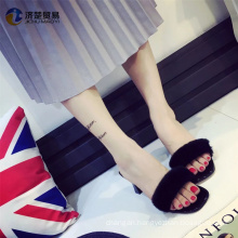 High-heeled fur slippers wish shopping online ladies shoe for party dress