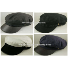 Customized plain cotton men captain sailor flat cap hat