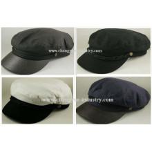 Chapéu de tampão liso personalizado algodão liso homens Capitão marinheiro