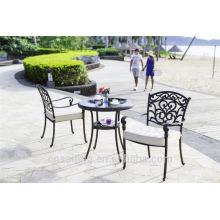 Популярная патио Водонепроницаемая декоративная металлическая уличная мебель