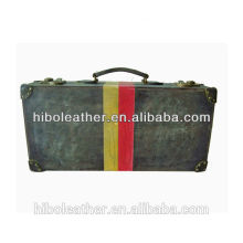 Hot Selling high quality new design Pu leather old look classic vintage suitcase