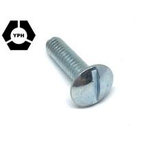 Vis à métaux de vis de machine de tête de botte de DIN de fil plein standard vis fendue