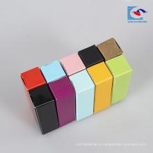полный цвет матовой помады косметической упаковки коробка с собственный логотип