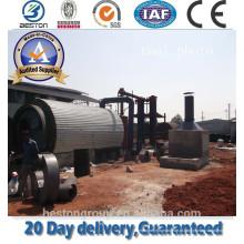 Planta waste da pirólise da máquina do recycle do pneu da eficiência elevada com o cambiador plástico do pneu do truckused do carro do LDPE do HDPE dos PP do desperdício da eficiência elevada