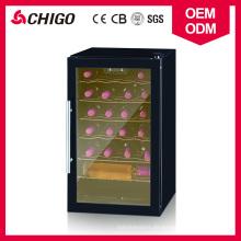 Soem verfügbar Direkte Kühlung Typ Kompressor Single Zone 24 Flaschen Kapazität Wein Kühlschrank mit Edelstahl Türgriff