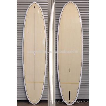 2016 caliente !!!! Tablero de paleta de SUP de la fibra de vidrio de la resina de epoxy de la chapa de bambú / tabla de surf de madera