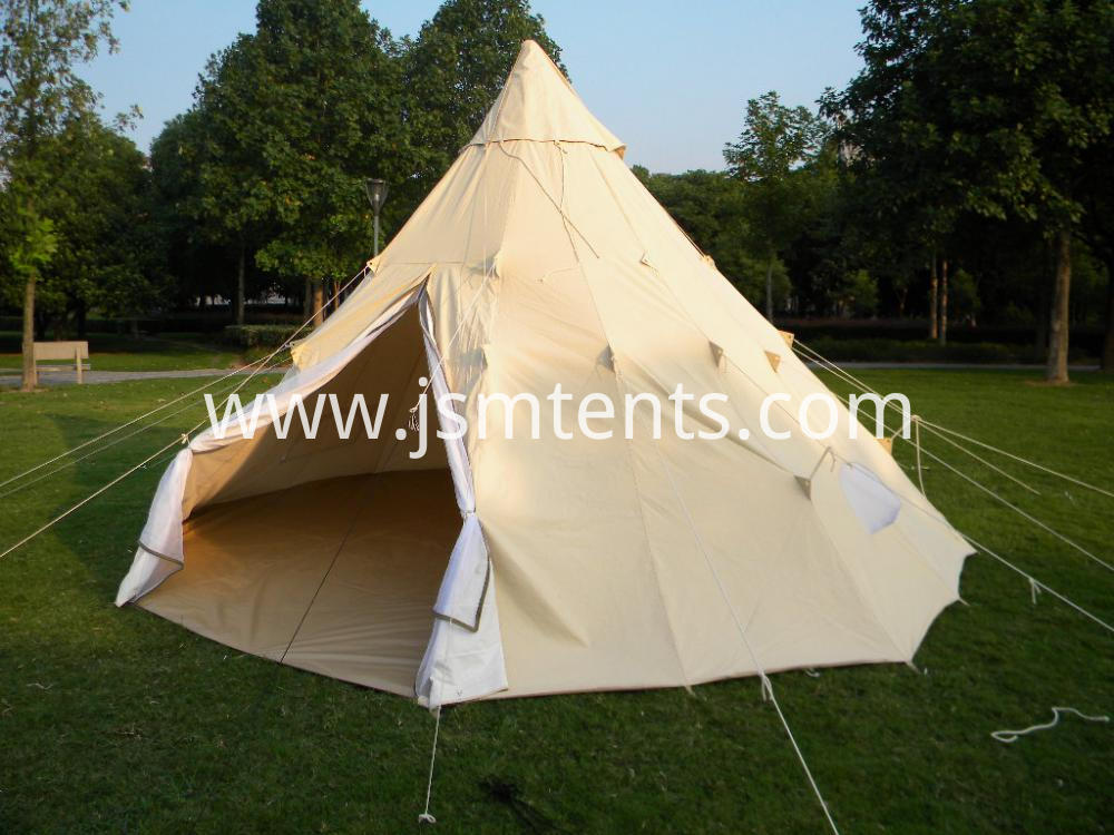 China Luxury Canvas Cotton Tipi Tent 5m Teepee Tent