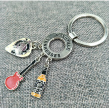 Promotion Custom Shaped Metal Pendent Keyring with Charms